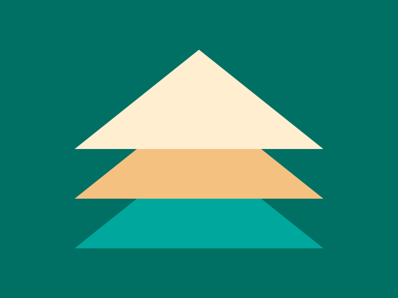 CSS Battle Christmas tree challenge: three stacked triangles